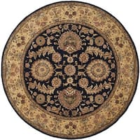 Safavieh Handmade Persian Court Navy Wool/ Silk Rug (8' Round)
