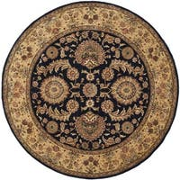 Safavieh Handmade Persian Court Navy Wool/ Silk Rug - 8' Round