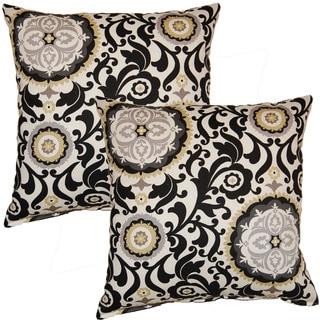 Celestial Sun Night Fall 17-inch Throw Pillows (Set of 2)