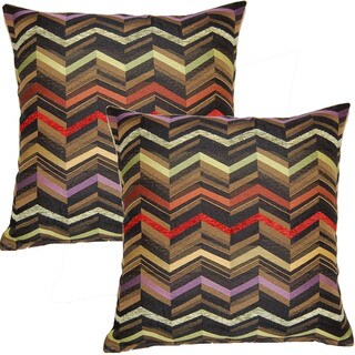 Illusion Ebony 17-inch Throw Pillows (Set of 2)