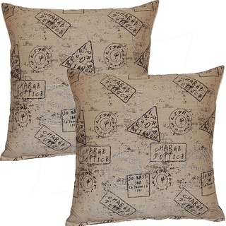 Passport Ash 17-in Throw Pillows (Set of 2)