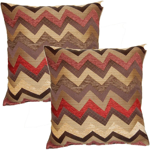 traffic burgundy 17-in throw pillows  set of 2