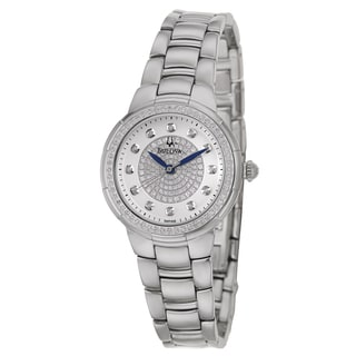 Bulova Women's 96R168 'Rosedale' Stainless Steel Quartz Watch