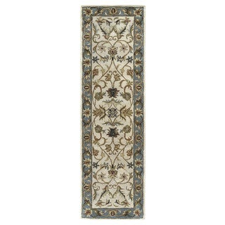 Hand-tufted Royal Taj Beige Wool Runner Rug (2'3 x 7'9)