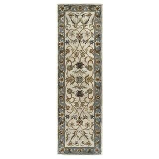 "Hand-tufted Royal Taj Beige Wool Runner Rug (2'3 x 7'9) - 2'3"" x 7'9"""