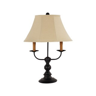 Somette Bayfield 1-light Flat Black Table Lamp