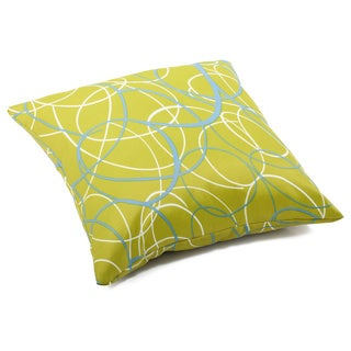 'Bunny' Olive Green Weather-resistant Throw Pillow