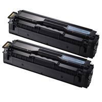 Samsung CLP-415 (CLT-C504S) Cyan Compatible Laser Toner Cartridges (Pack of 2)