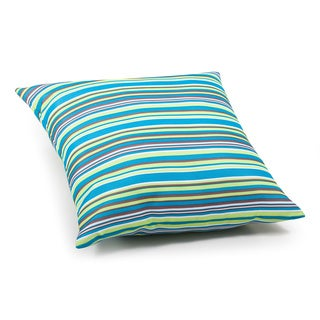Puppy Multicolor Stripe Outdoor Pillow