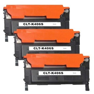 Samsung CLT-K406S Compatible Black Laser Toner Cartridges (Pack of 3)