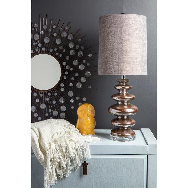 Mod Mercury 1-light Aged Mercury Glass Table Lamp