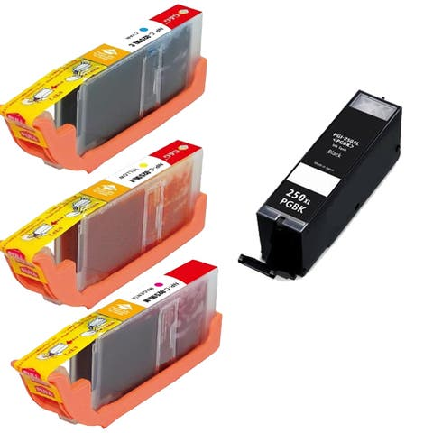 Compatible Canon CLI-251XL Black, Cyan, Yellow, Magenta High Yield Ink Cartridges (Pack of 4)