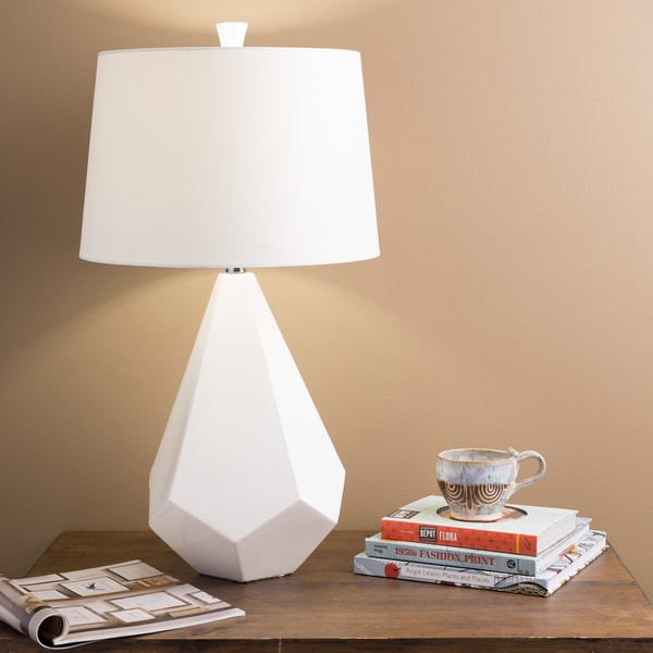 Marvelous Multi-faced White Ceramic Lamp