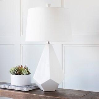 Marvelous Multi Faced White Ceramic Lamp