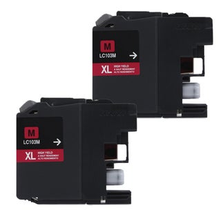 Brother LC103 Magenta Compatible Ink Cartridge (Remanufactured) (Pack of 2)