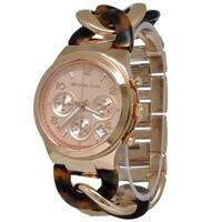 Michael Kors Women's MK4269 Tortoise Acetate and Rose Gold-Tone Watch