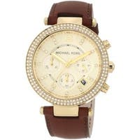 Michael Kors Women's  Leather Band Chronograph Watch