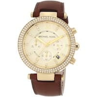 Michael Kors Women's MK2249 Leather Band Chronograph Watch