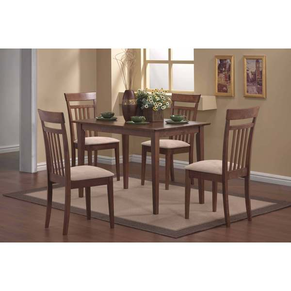 Dining Room Sets 5 Piece: Walnut 5-piece Dining Room Set