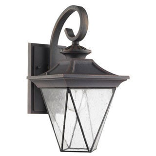 Chloe Transitional 1-light Rustic Bronze Oudoor Wall Sconce