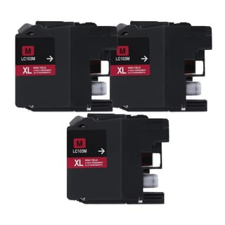Brother LC103 Magenta Compatible Ink Cartridge (Remanufactured) (Pack of 3)