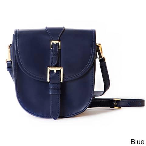 Isaac Mizrahi Jane Genuine Leather Crossbody Camera and Tech Bag
