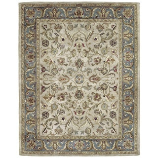 Hand-tufted Royal Taj Beige Wool Rug (5' x 7'9)
