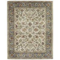 Hand-tufted Royal Taj Beige Wool Rug (5' x 7'9)