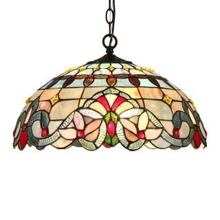 Chloe Tiffany Style Victorian Design 2-light Pendant