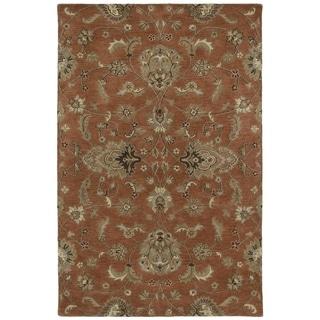 Royal Taj Copper Hand-tufted Wool Rug (3'6 x 5'3)
