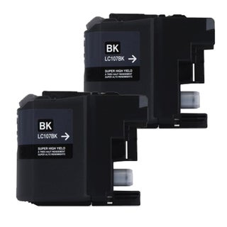 Brother LC107 Black Compatible Ink Cartridge (Remanufactured) (Pack of 2)