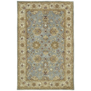 "Hand-tufted Royal Taj Aqua Wool Rug (3'6 x 5'3) - 3'6"" x 5'3"""