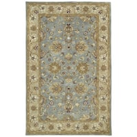 Hand-tufted Royal Taj Aqua Wool Rug (3'6 x 5'3) - 3'6 x 5'3