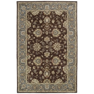 "Royal Taj Brown Hand-tufted Wool Rug - 3'6"" x 5'3"""