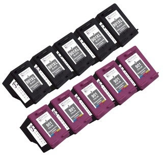 Sophia Global Remanufactured Ink Cartridge Replacement for HP 901XL and 901 with Ink Level Display (5 Black, 5 Color)