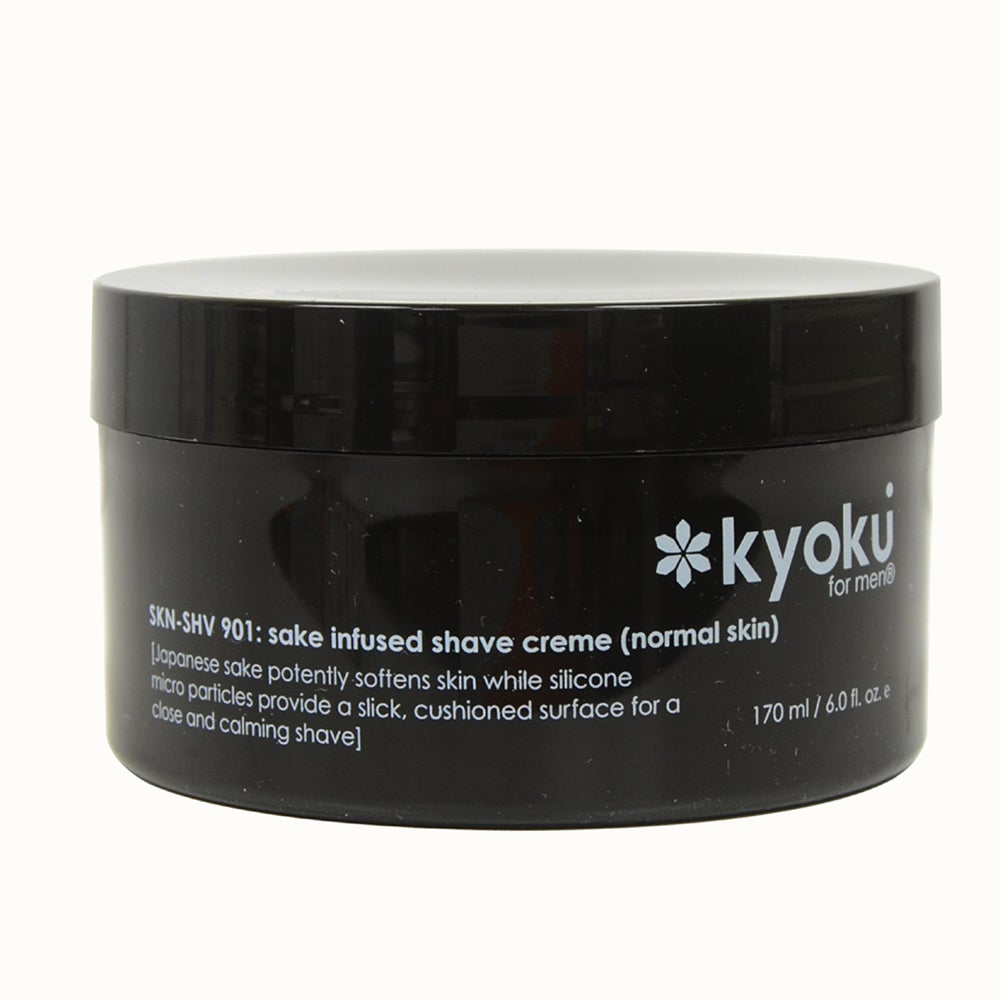 Kyoku Sake Infused Normal 6-ounce Shave Creme, White coco...