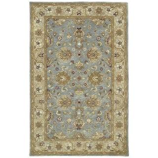 Hand-tufted Royal Taj Aqua Wool Rug - 2' x 3'