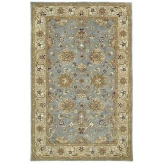 Hand-tufted Royal Taj Aqua Wool Rug (2' x 3')