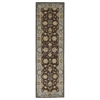 "Royal Taj Brown Hand-tufted Wool Rug (2'3 x 7'9) - 2'3"" x 7'9"""