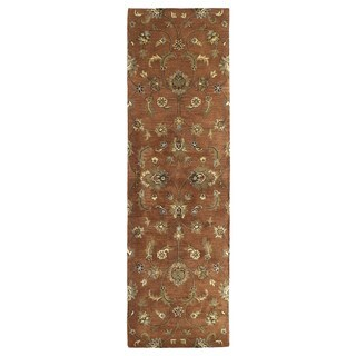 Hand-tufted Royal Taj Copper Wool Runner Rug (2'3 x 7'9)