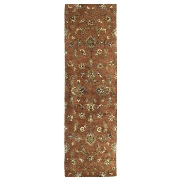 "Hand-tufted Royal Taj Copper Wool Runner Rug (2'3 x 7'9) - 2'3"" x 7'9"""
