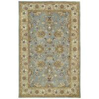 "Hand-tufted Royal Taj Aqua Wool Area Rug - 9'6"" x 13'"