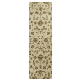 "Royal Taj Sand Hand-tufted Wool Rug (2'3 x 7'9) - 2'3"" x 7'9"""