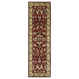 Royal Taj Red Hand-tufted Wool Rug (2'3 x 7'9)