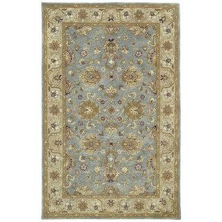 Hand-tufted Royal Taj Aqua Wool Rug - 8' x 10'