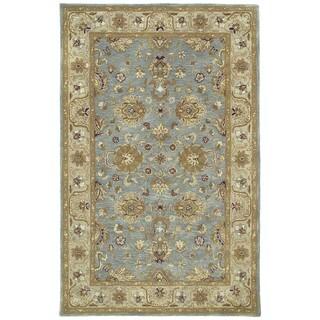 Hand-tufted Royal Taj Aqua Wool Rug (8' x 10')