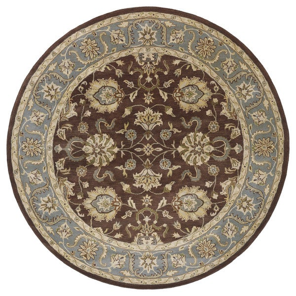 Shop Hand Tufted Royal Taj Brown Wool Area Rug 5 9 Round