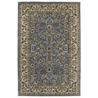 "Hand-tufted Royal Taj Blue Wool Area Rug (9'6 x 13') - 9'6"" x 13'"