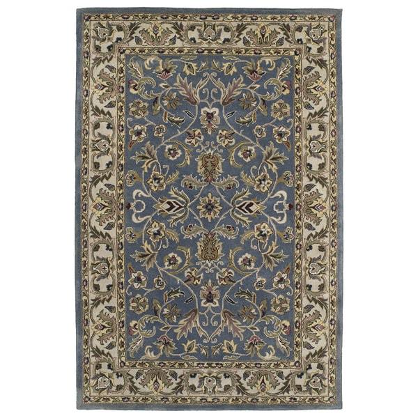 Hand-tufted Royal Taj Blue Wool Area Rug (9'6 x 13')