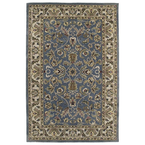"Hand-tufted Royal Taj Blue Wool Area Rug (9'6 x 13') - 9'6"" x 13'"